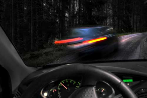A drunk driver, concept of DUI charges